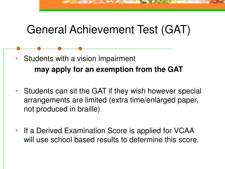 General Achievement Test (GAT)