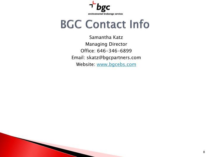 BGC Contact Info