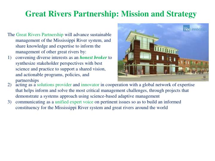 Great Rivers Partnership: Mission and Strategy