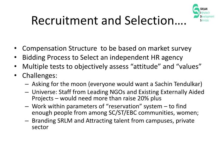 Recruitment and Selection….