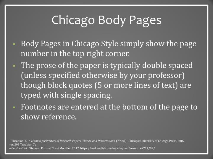 Chicago Body Pages