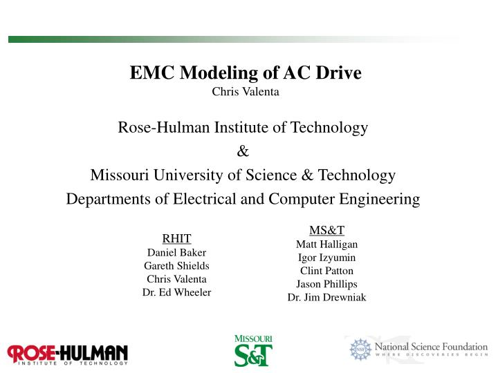 Emc modeling of ac drive chris valenta