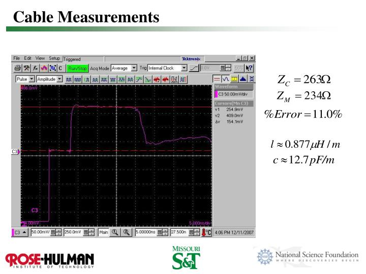 Cable Measurements