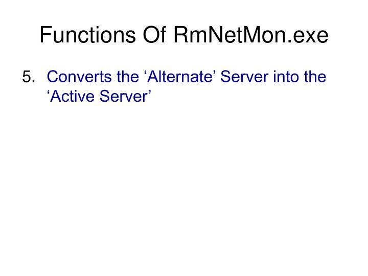 Functions Of RmNetMon.exe