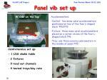 panel vib set up