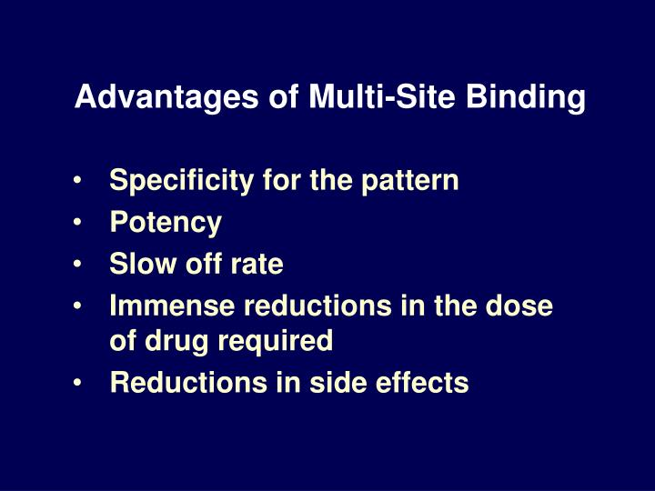 Advantages of Multi-Site Binding