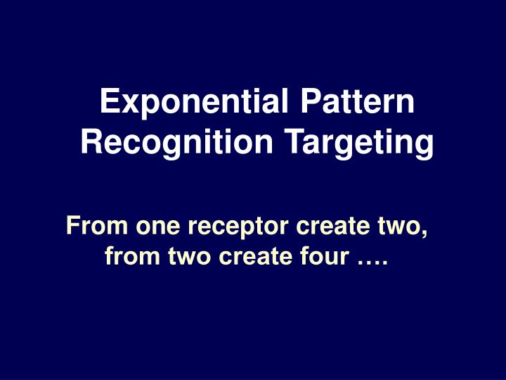 Exponential Pattern Recognition Targeting