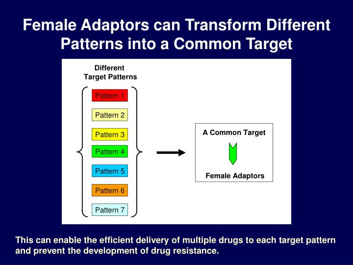 Female Adaptors can Transform Different Patterns into a Common Target