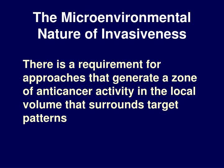 The Microenvironmental Nature of Invasiveness