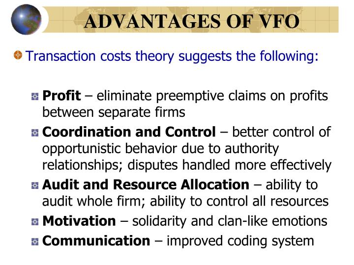ADVANTAGES OF VFO