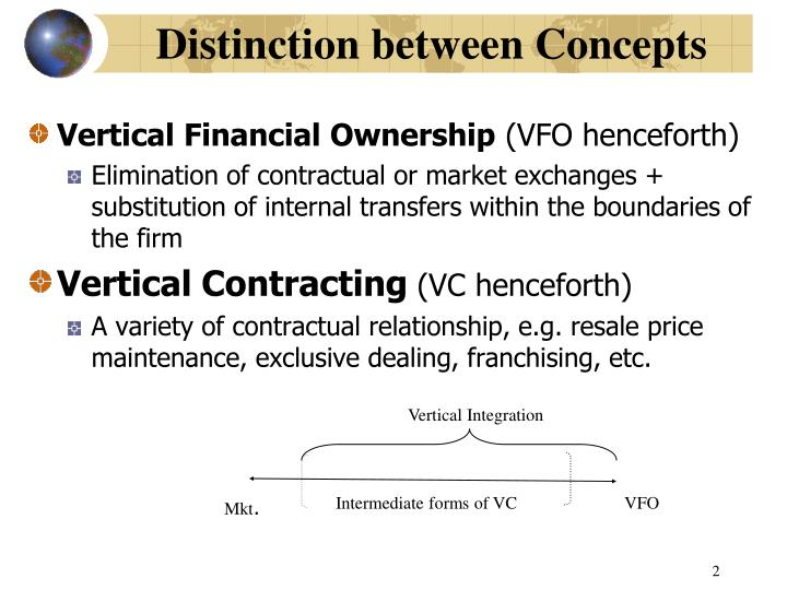 Distinction between concepts