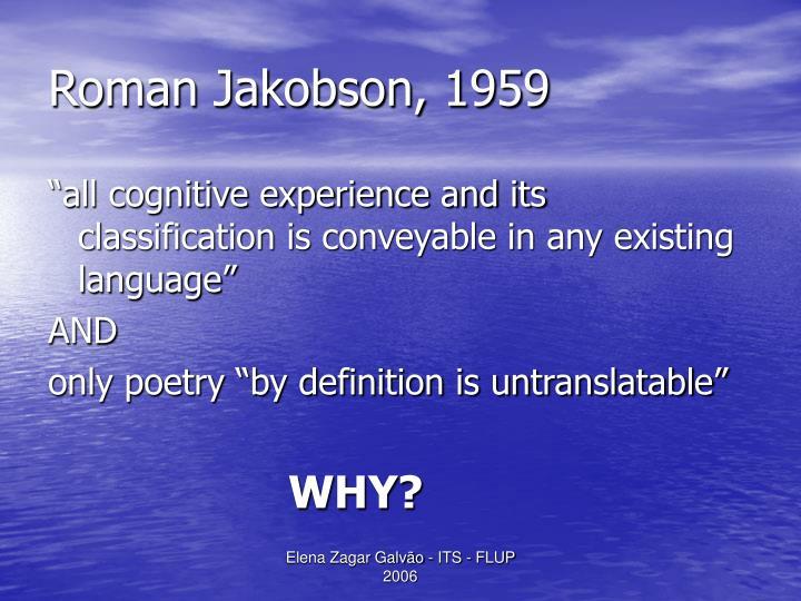 Roman Jakobson, 1959