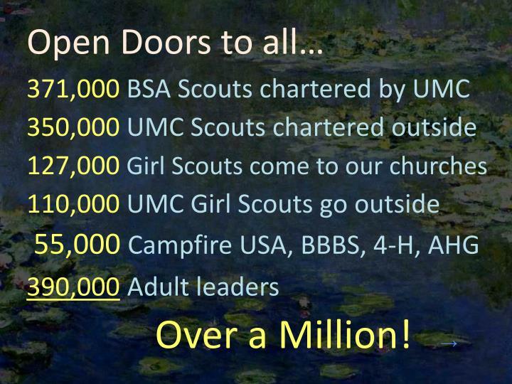 Open Doors to all…