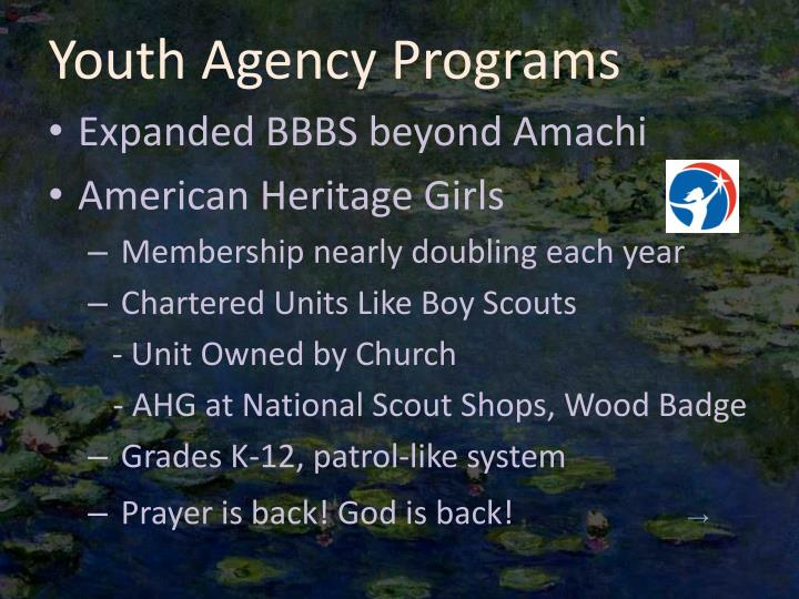 Youth Agency Programs