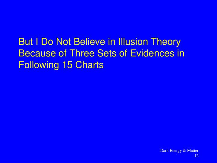 But I Do Not Believe in Illusion Theory