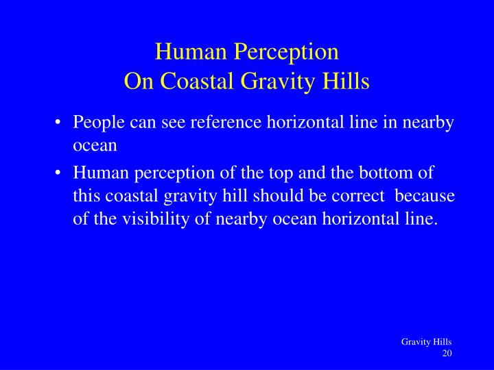 People can see reference horizontal line in nearby ocean
