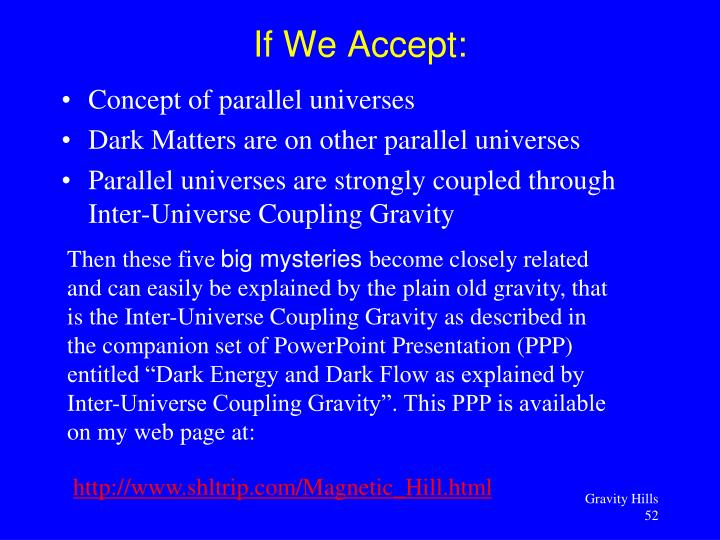 Concept of parallel universes
