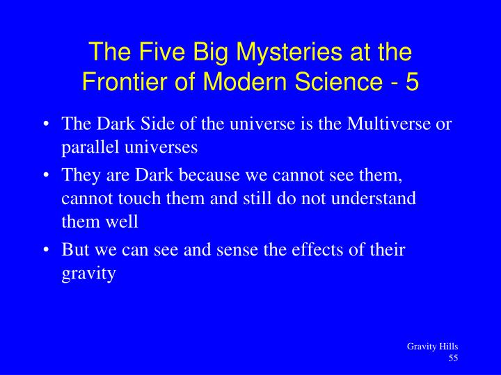 The Dark Side of the universe is the Multiverse or parallel universes