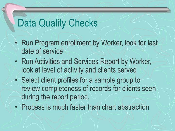 Data Quality Checks
