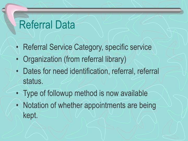 Referral Data