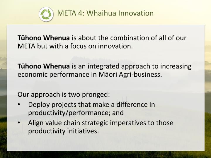 META 4: Whaihua Innovation