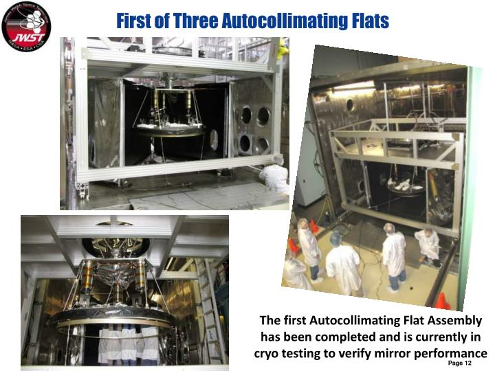First of Three Autocollimating Flats