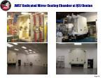 jwst dedicated mirror coating chamber at qci denton