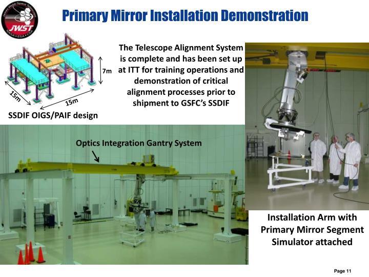 Primary Mirror Installation Demonstration