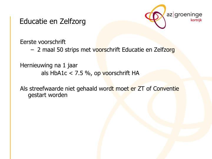 Educatie en Zelfzorg