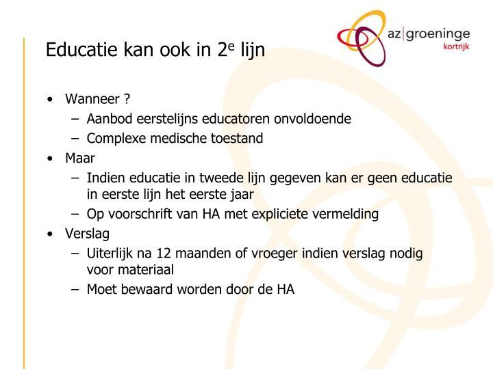 Educatie kan ook in 2