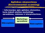aplinkos skanavimas environmental scanning