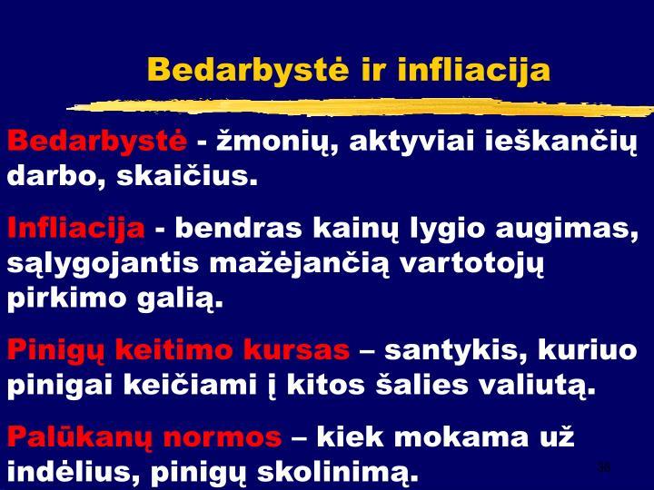 Bedarbystė ir infliacija