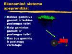 ekonomin sistema apsprend ia