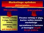 marketingo aplinkos skirstymas