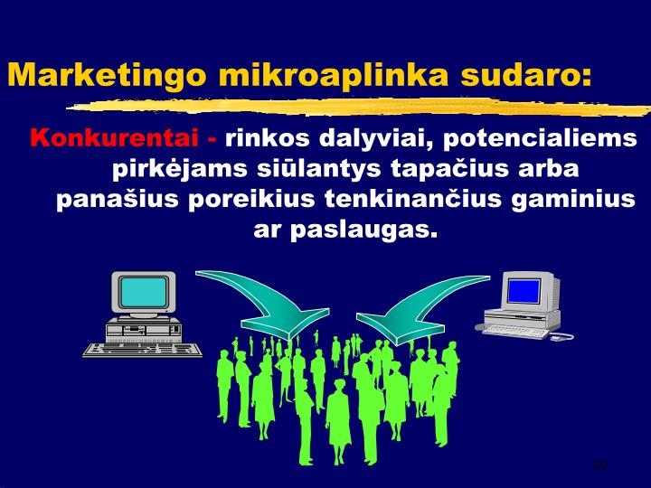 Marketingo mikroaplinka sudaro: