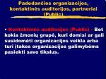padedan ios organizacijos kontaktin s auditorijos partneriai public