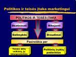 politikos ir teis s taka marketingui