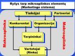 r y ys tarp mikroaplinkos element marketing o si stem a