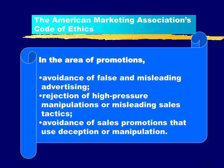 The American Marketing Association's