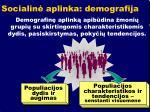 socialin aplinka demografija