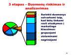 3 etapas duomen rinkimas ir analizavimas2