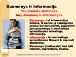 duomenys ir informacija
