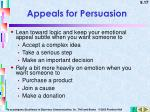 appeals for persuasion1