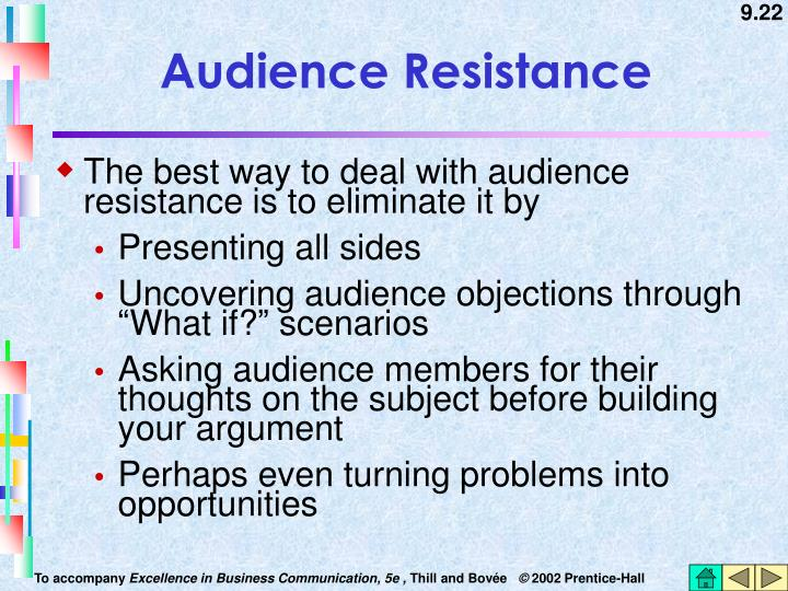 Audience Resistance