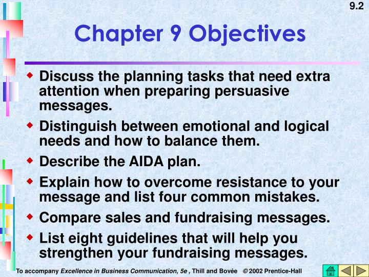 Chapter 9 Objectives