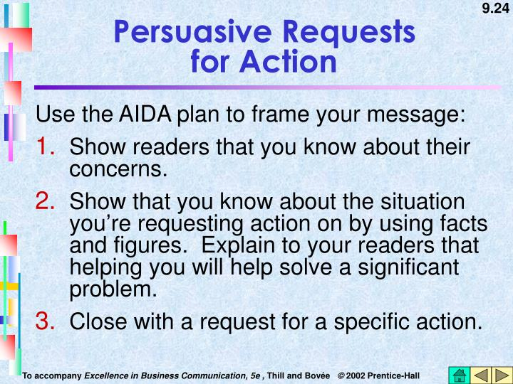 Persuasive Requests              for Action