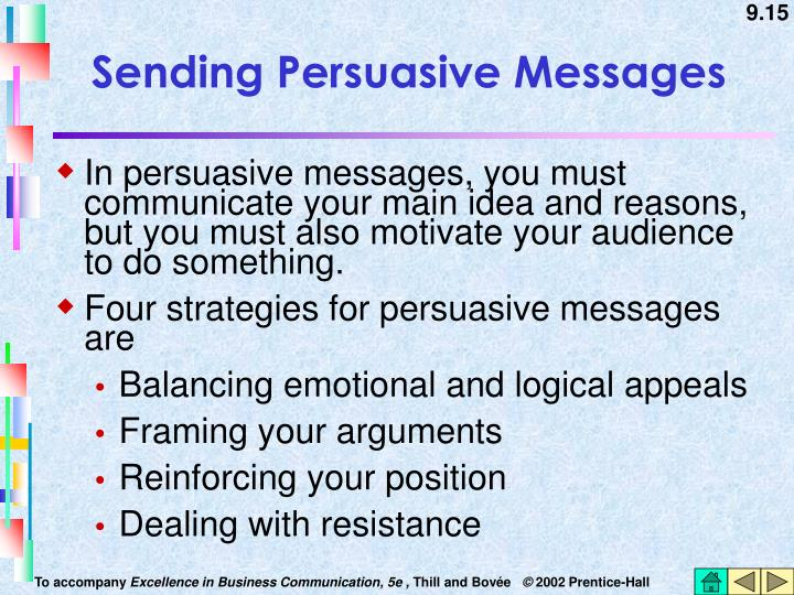 Sending Persuasive Messages