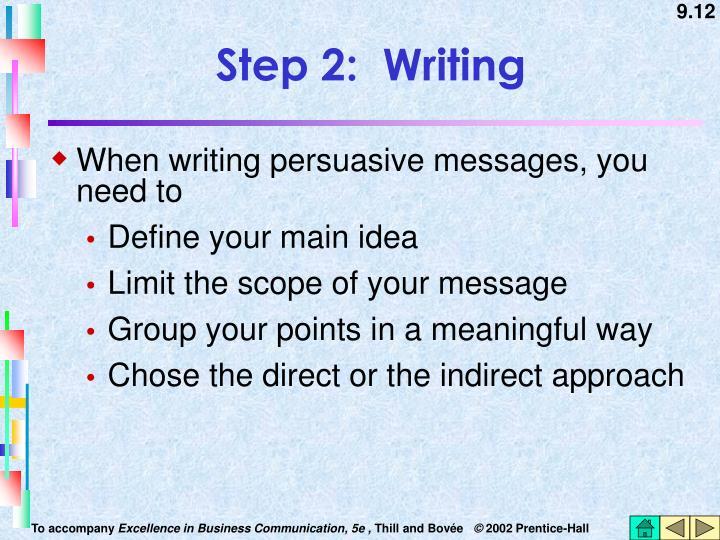 Step 2:  Writing