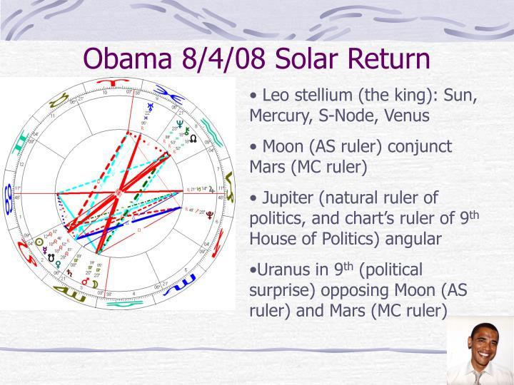 Obama 8/4/08 Solar Return