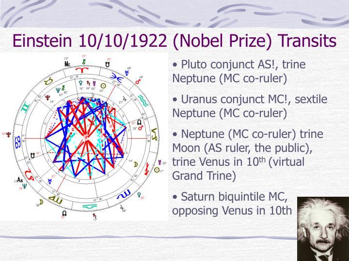 Einstein 10/10/1922 (Nobel Prize) Transits